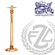 48 inch Paschal candlestick available in 2 sizes in brass or bronze with satin or high polish finish comes with 2 inch socket made in u s a by progressive Bronze PB41717PC