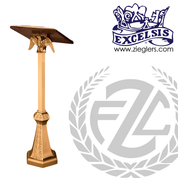 Standing Lectern with eagle made of bronze or brass with high polish or satin finish stands 48 inches high made in  u s a by progressive bronze PB43433