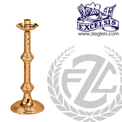 28 inch Paschal candlestick available in brass or bronze with high polish finish comes with 2 inch socket made in u s a by progressive Bronze PB444227PC