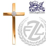Wall cross made of bronze or brass in high polish finish with IHS emblem available in 7 sizes made in  u s a by progressive bronze PB533143