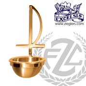 Holy water font in bronze with choice of high polish or satin finish available in 3 sizes with plastic liner for basin made in u s a by progressive Bronze PB253383HF