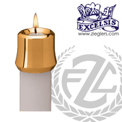 Candle Follower Select from 14 Sizes bronze brass or chrome in Elite style made in U S A by progressive bronze PB1124