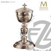 Ciboria with Lid Silver Plated 2921 Artistic Silver Spain