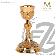Baroque Style Chalice and Paten Gold Plated 152 Artistic Silver Spain