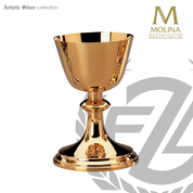"Cross Chalice & Paten | 6-1/4"" x 4"" 
