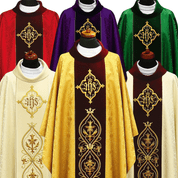 Gothic Chasuble Damask Fabric Polish Available in 6 colors 2330