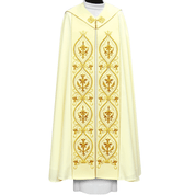 White Cope with Embroidered Panels from Poland Style 3170