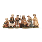 5 Piece Traditional Nativity Set Includes Jesus Mary Joseph 3 Kings Shepherd 1 Sheep Childlike Features DICHNAT349