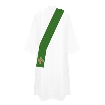 Jerusalem Cross Deacon Stole Available in 4 Colors HF046D