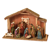 "9 Piece Traditional Nativity Set Stable 22"" GER2271980"
