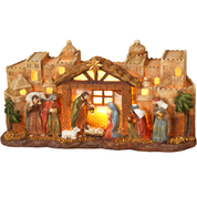 "Nativity Figurine City Scene Lighted 12"" GER2272070"