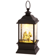 "Journey to Bethlehem Lantern Lighted Snow 10.5"" GER2358640A"