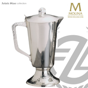 1 quart flagon stands 10 and 1 quarter inches high hand hammered with high polish silver plate finish made in spain my molina AS5070FLSPGL