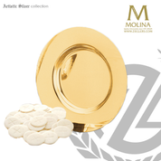paten measures 7-1/2 in diameter with sterling silver plate and gold plate finish made by molina of spain AS5070PSPGL
