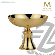 contemporary style open ciborium with 24 karat gold plate finish available in 2 sizes from molina of spain AS5287
