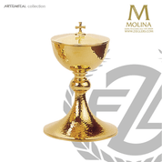 "Hammered Covered Ciborium | 8-1/2"" x 4-5/8"" 