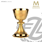 "Banded Chalice with Paten | 6-7/8"" x 4-1/8"" 