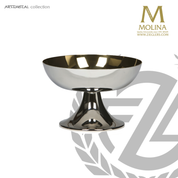 stainless steel open ciborium stands 4 and 1 quarter inches high holds up to 350 host made in Spain by Molina AS367CBOSTSGL