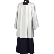 Surplice lightweight made in white cotton polyester cool breathable fabric made in Italy SAR914