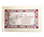 "My First Communion Music Box 6"" x 4"" Jesus Loves Me Ivory CGCPJGIVJESUS"