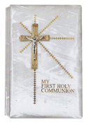 First Holy Communion Missal Crucifix on Cover and Inside SIBFG9726GDE