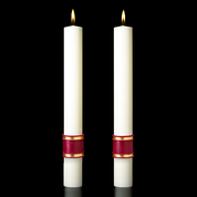 Crux Trinitas Complementing Altar Candle 4 Sizes 51% Beeswax 809868 USA