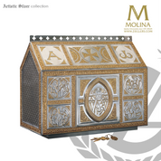 Chest style Tassilo tabernacle stands 19 and 1 half inches high with choice of 3 finishes made in spain by Molina AS4109