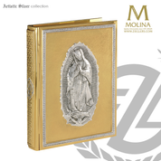 Our Lady of Guadalupe Book of Gospels Cover custom size in four finishes by molina of spain as2500