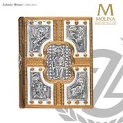 Pantocrator Book of Gospels Cover | Custom Fit to Book | Four Evangelis Symbols | 3000 | Spain