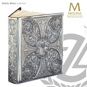 Pantocrator lectionary book Cover with evangelists custom fit to your book with choice of four finishes made in spain by artistic silver AS5000