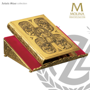 Agnus Dei Lectionary Bookstand with antique look available in 4 finishes made in spain by molina AS60MS