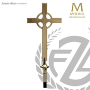 Celtic processional cross with hammered finish and choice of 2 finishes made in spain by molina as914