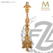 Baroque-paschal-candlestick-with-footed-base-stands-56-inches-high-silver-plate-or-brass-finish-made-in-spain-by-molina-as936
