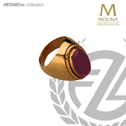 Oval bishop ring with amethyst please indicate ring size in order made in spain by molina AS761