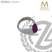 Bishop Ring | Oval Amethyst | Sterling Silver | Available in 2 Finishes 763 | Spain