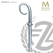 bishops crozier with oval crook select from two finishes and 2 or 3 sections made in spain by molina AS5596