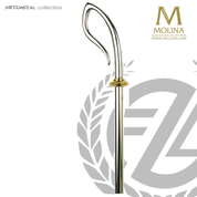 bishops crozier with slightly pointed crook select from two finishes and 2 or 3 sections made in spain by molina AS5590