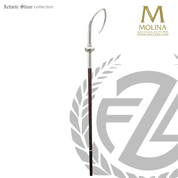 bishops crozier with dove of holy spirit select from two finishes and 2 or 3 sections made in spain by molina AS401