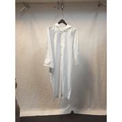 White Hooded Alb   Size 12  Zipper
