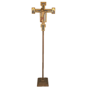 San Damiano Processional | with Stand | Wood | 72""