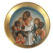 Jesus with Children| Wall Medallion | Wood | Color |30""