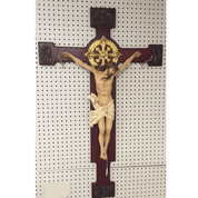 Evangelist Crucifix | Walnut Resin | 44""