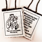 Our Lady of Mount Carmel Brown Scapular Wool on a Rope Cord JSCER