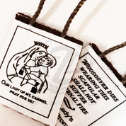 Our Lady of Mount Carmel Brown Scapular For Child Rope Cord Wool JSCEK