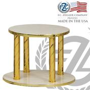 Thabor Table Italian Marble Round Style 953 Ziegler USA