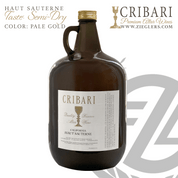 Haut Sauterne Sacramental Catholic Altar Wine with a semi dry taste and pale gold color for Eucharist Mass Communion Celebration Cribari 4 liter jug CVHS