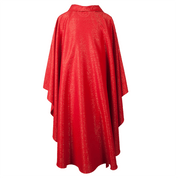 Monastic Chasuble Red and Gold David Fabric with Stand up collar made in Belgium by Slabbinck