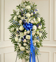 Deepest Sympathies Standing Spray Flower Arrangement