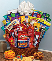 Super Sweet Snack Gift Basket Arizona Rose Amp Flower Company