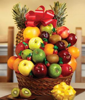 Fresh Fruit and Candy Basket